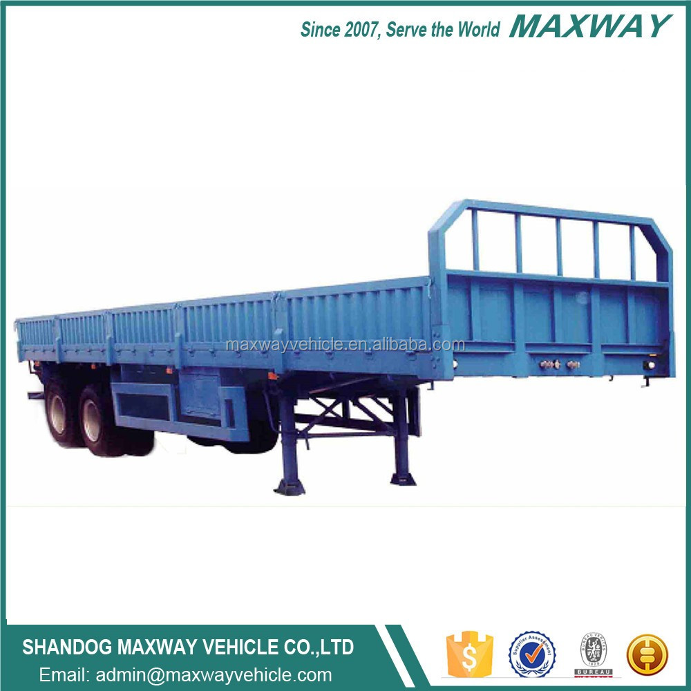 Large capacity china made 3 axle side wall open cargo truck trailer