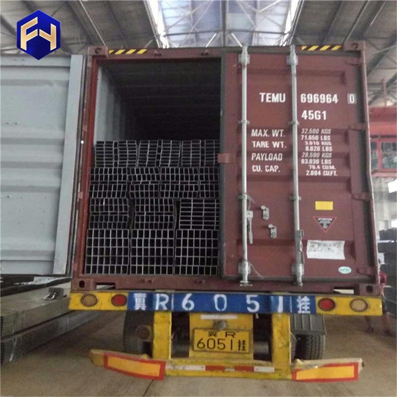 Multifunctional steel square fabrication 30x60mm rectangular black tube with CE certificate
