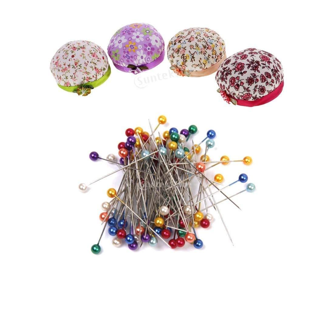 480 PCS Decorative Artificial Pearl Straight Head Bead Pins Reel Loop Tool Set