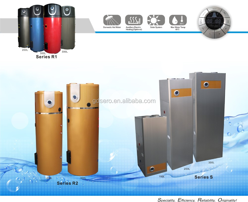 Air Source Heat Pump Water Heater air source heat pump water heater 3.5kw with solar function,ce