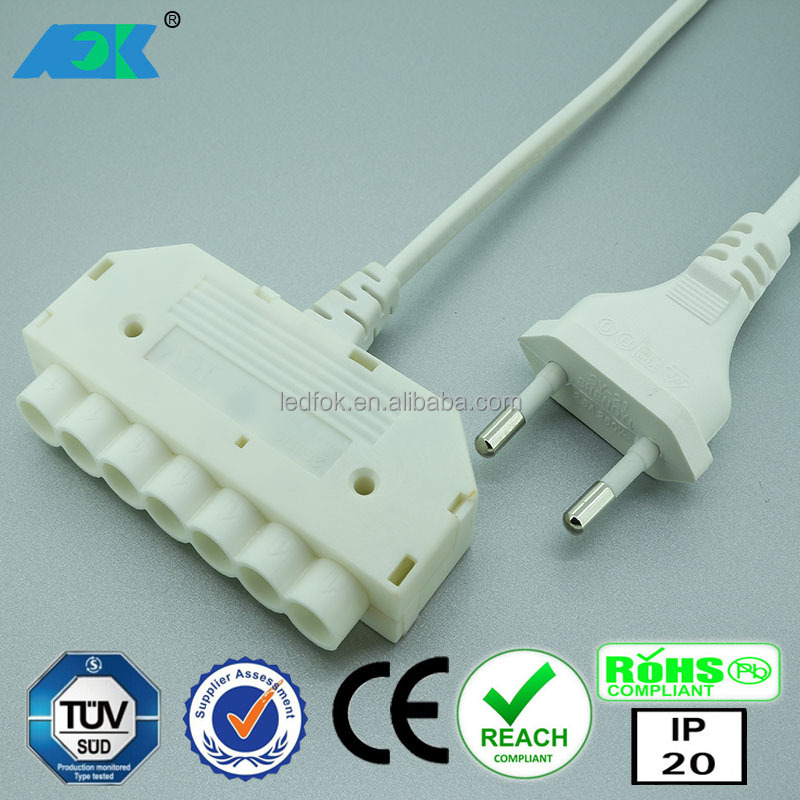 LED Lamps AC to dc Transformer 12V DC 18 Watt Power supply Driver G4 Converter with EU plug and 6-way MINI distributor