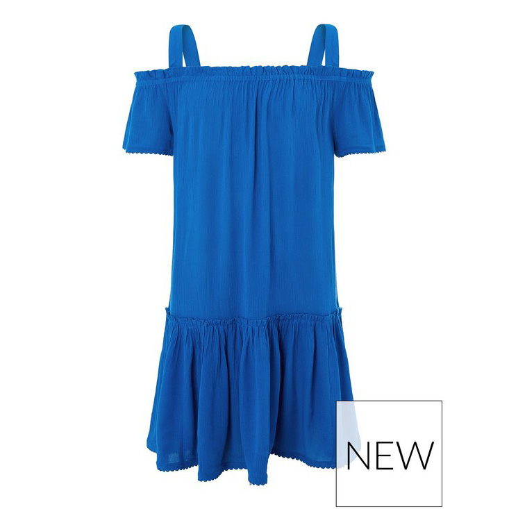 OEM Children Girls Blue Stripe Spaghetti Strap Maxi Dress Scoop Neck Beach Dresses for Kids
