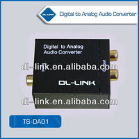 TS-AD01 Analog to Digital Optical Coaxial Audio Converter Adapter with RCA Input Toslink Output