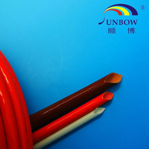 Silicone Coated Insulation Sleeve 16mm Fiberglass Silicone Sleeve