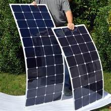 Hot sale semi flexible solar panel 100 watt mono