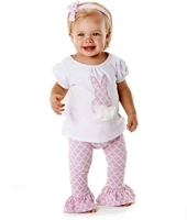 spring kids clothing easter holiday baby girl bunny outfit