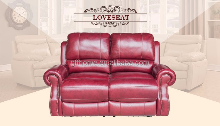 Cheap Burgundy Wedding Leather Love Seat 2 Seater Sofa Sale - Buy 2 ...