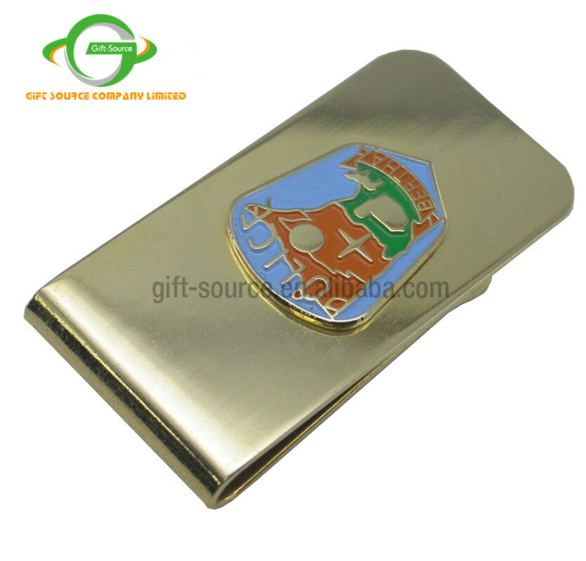 Custom Enamel Gold Metal Money Clip Hardware