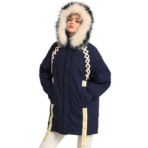 ODM New fashion down coat high end with fur hood goose down parka best down coats for women's down coat