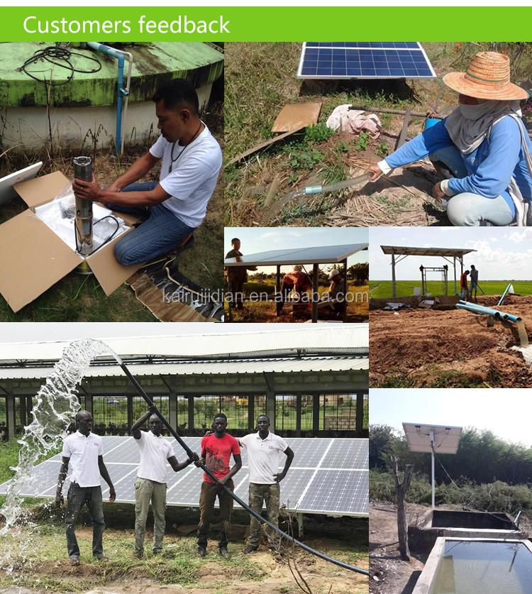 China precio barato 24 V profunda solarsumersible cavidad progresiva para la bomba de jardín irrigrition