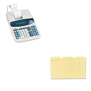 KITUNV12113VCT12603 - Value Kit - Victor 1260-3 Two-Color Heavy-Duty Printing Calculator (VCT12603) and Universal File Folders (UNV12113)