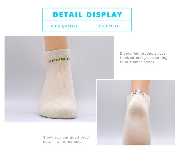 Custom White Ankle Wholesale Cotton Teenage Girls Fashion Women Printing Pure Cotton Socks