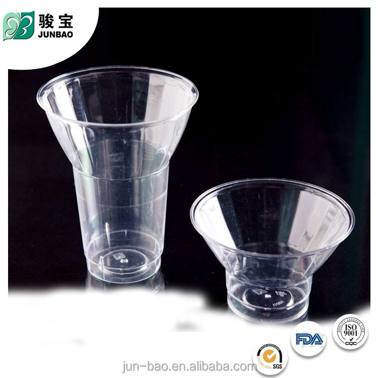 High Quality Factory Price clear waterproof decorative plastic cup ice cream