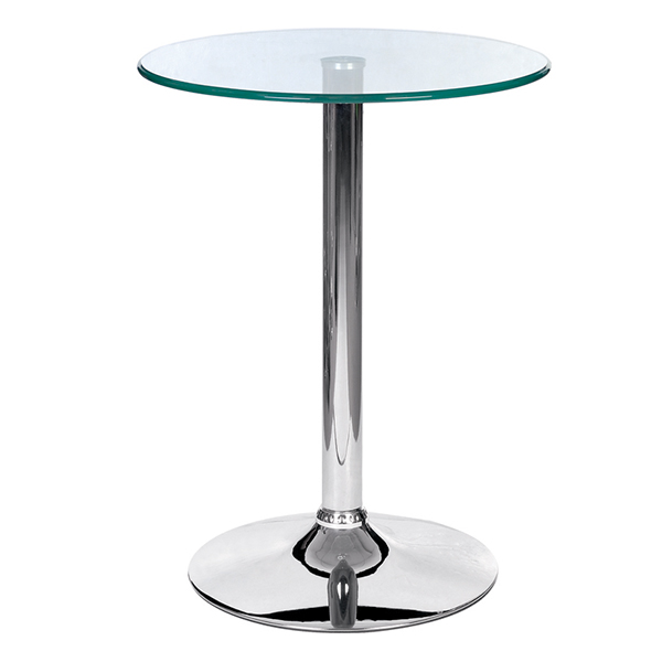 Simple style commercial glass high bar table