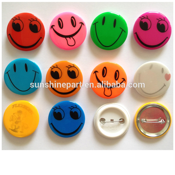 Colorful round luminous pvc flashing safety button badges