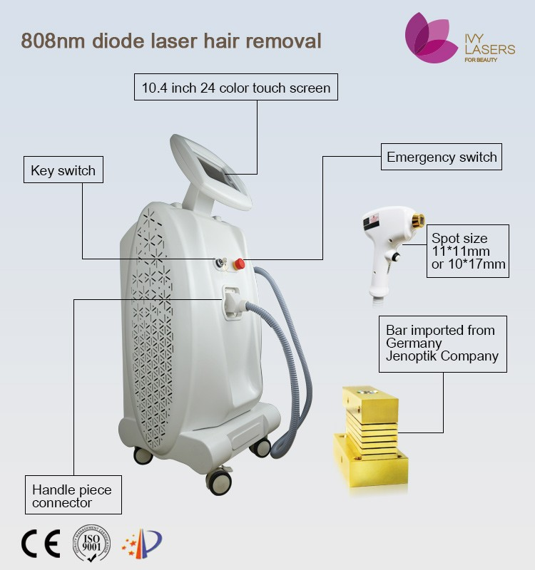 professional beauty salon product, 600w stationary micro cooling system 808nm diode laser hair removal machine