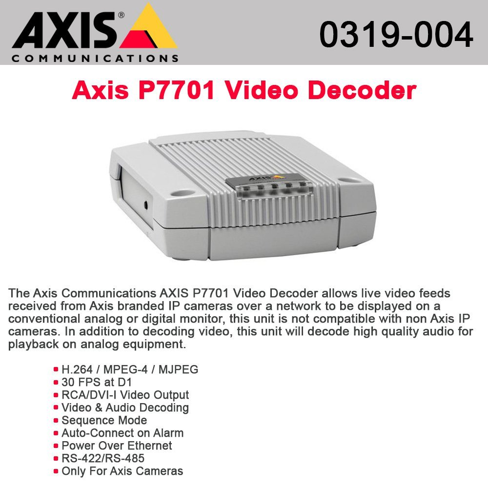 AXIS P7701 Video Decoder - video decoder - 1 channels (0319-004) -