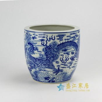 Rzda04 a d10 inch hand painted blue white dragon flower pot buy rzda04 a d10 inch hand painted blue white dragon flower pot mightylinksfo
