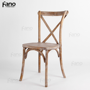 hot sale french x back stackable wooden cross chair