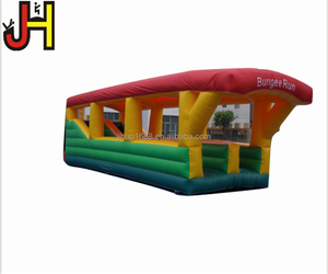 Inflatable Bungee Run Bouncer Two Lanes Bungee Run Bungee Jumping Run