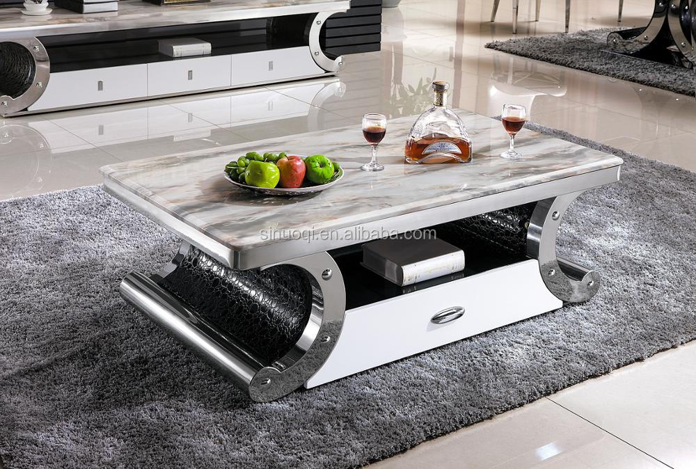 Bon Foshan Hardware Furniture Modern Tea Table Marble Coffee Table With  Stainless Steel Base End Table   Buy Marble Coffee Table,Coffee  Table,Modern Tea ...
