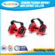 High heel glider street glider strap on two wheel flashing roller skates with LED light