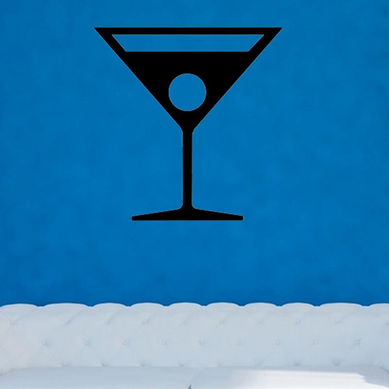 Plastic Martini Glass Cake Topper