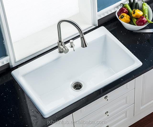 Used Sanitary Ware Single Basin Cast Iron Enameled Undermount Kitchen Sinks  For Sale - Buy Single Basin Kitchen Sink,Sanitary Ware Kitchen Undermount  ...