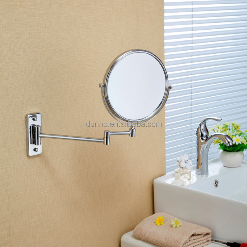 8 Inch Professional bathroom smart Mirror Wholesale Brass Makeup Stainless Steel Mirror
