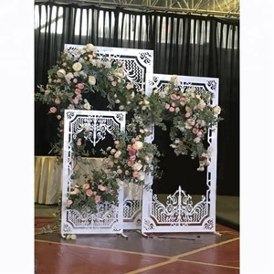wedding decoration new model Square white flower stand flower arch for stage decor