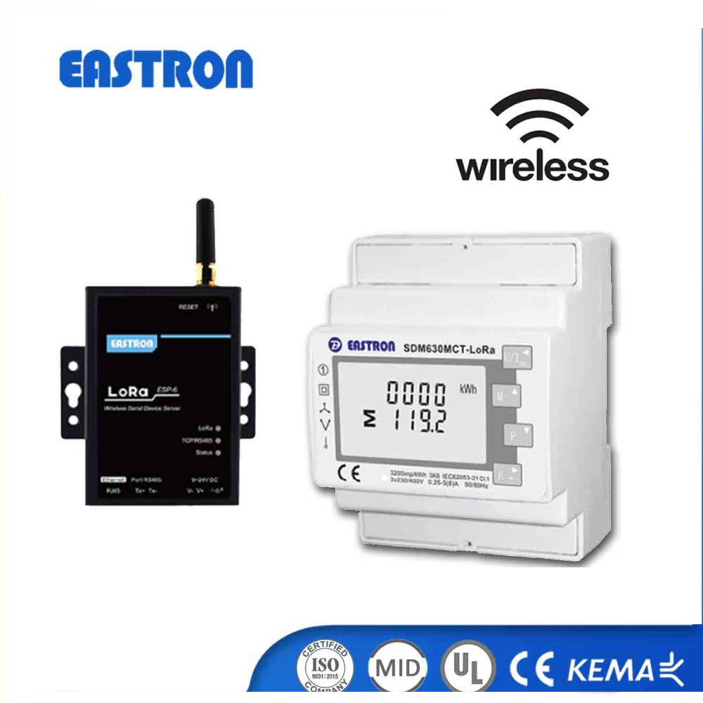 SDM630MCT - Lora MID approved Three Phase multifunction LoraMesh/LoraWan Communication wireless power energy meter
