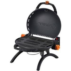 O-Grill 9,500 BTU Portable Propane Grill Stoneman Sports, O-500BK, 165 sq in Grill Space, Black, Durable Steel Material, Compact Design for Easy Storage, O-500BK