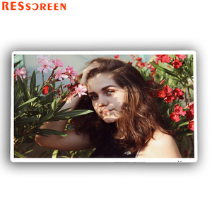 Resscreen 43 inch window touch screen 10 point IR 4K ultra HD wall mount kiosk