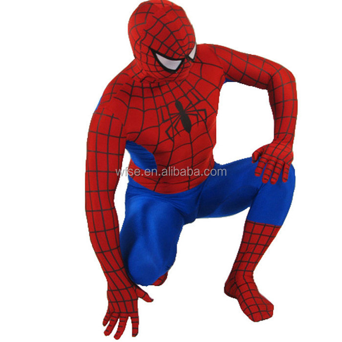 2016 Hot Sell Sexy Supperman Spiderman Costumes Halloween Fancy Dress Costumes