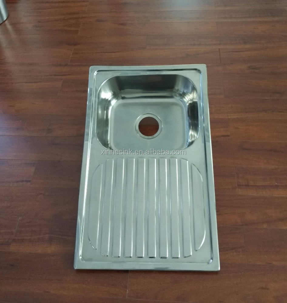 Single Bowl With Drain Board Kitchen Sink, Single Bowl With Drain ...