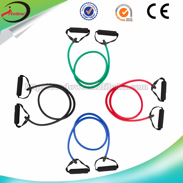 2014 latex hand tube expander circular resistance cords 6s a set bands