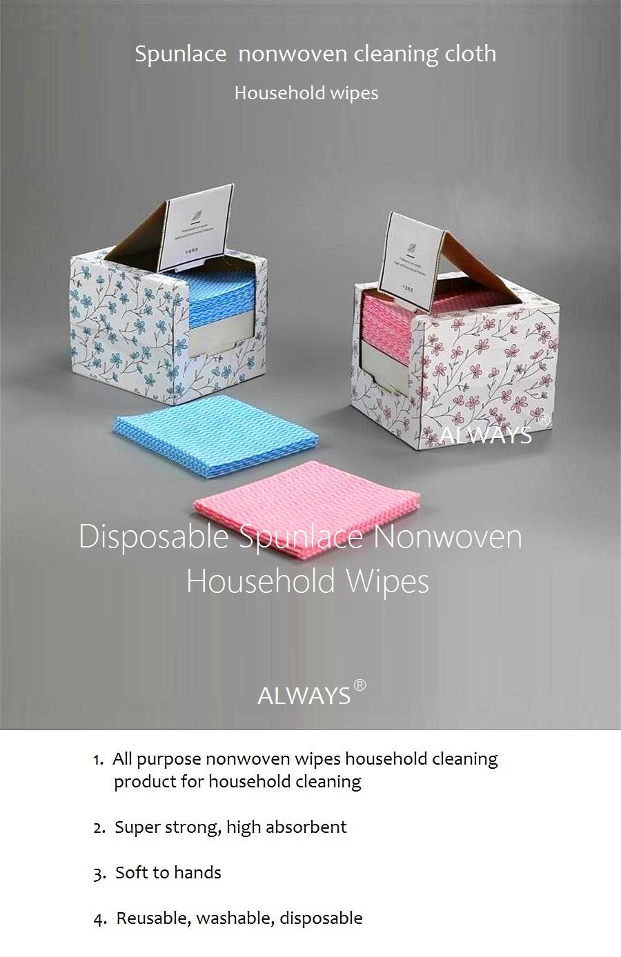 Creative design household dry Cleaning Rags in a box
