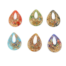 Mc0030 12Pcs/Box Handmade Jewellery Drop Millefiori Art Glass Lampwork Pendants