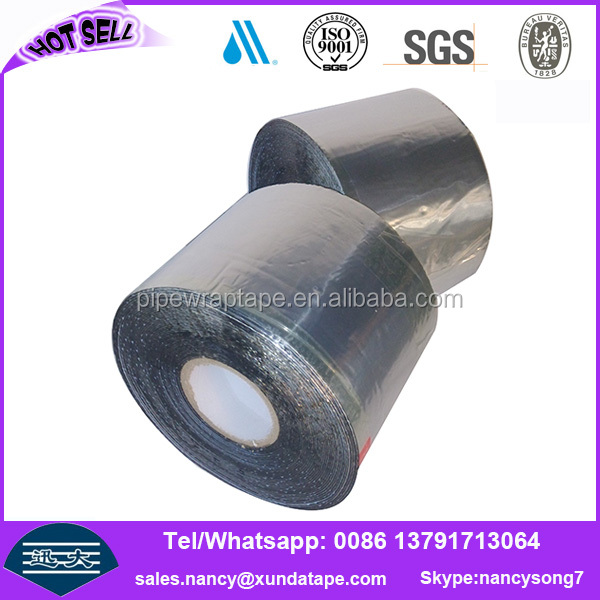 black adheisve aluminum foil tape for gas pipe