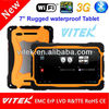 New product Android quad core rugged waterproof 7 inch tablet water proof sim 5 pixel