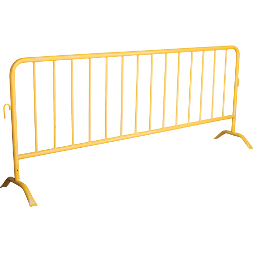 Traffic Road Safety Barrier/Steel Barricades with Bridge Base/Crowd Control Interlocking Barriers
