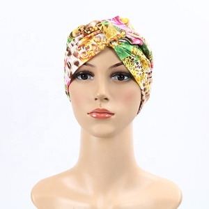Direct factory Cross printed turkish hat malaysia instant crepe hijab with  stone