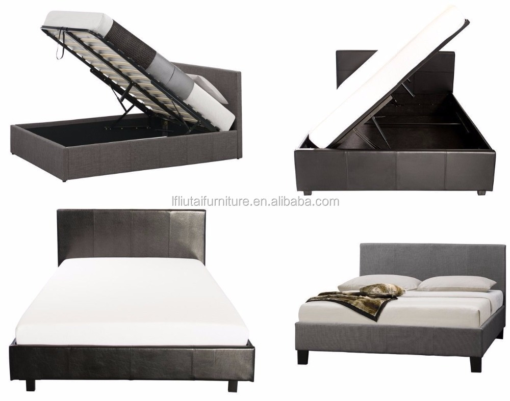Muebles De Dormitorio De Lujo Cama King Size Material De Cuero Cuero ...