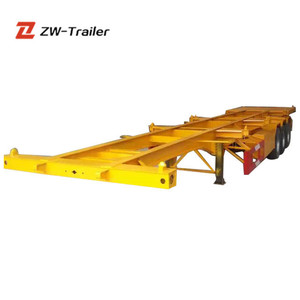 China Factory High Quality Trailer Chassis And 40FT Skeleton Semi Trailer