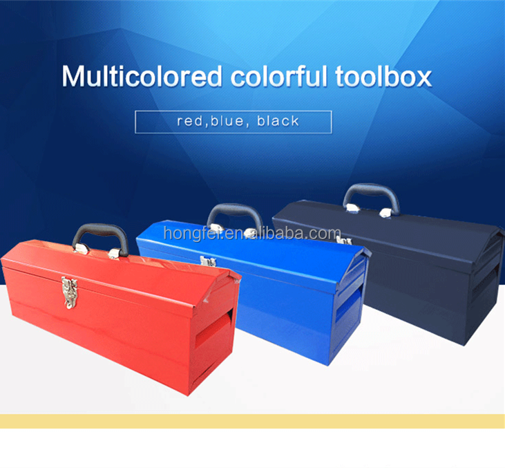 colorful iron tool box for workshop station with top handle