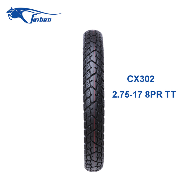 Size 2.75-17 High Quality China Motorcycle Tubeless Tyre