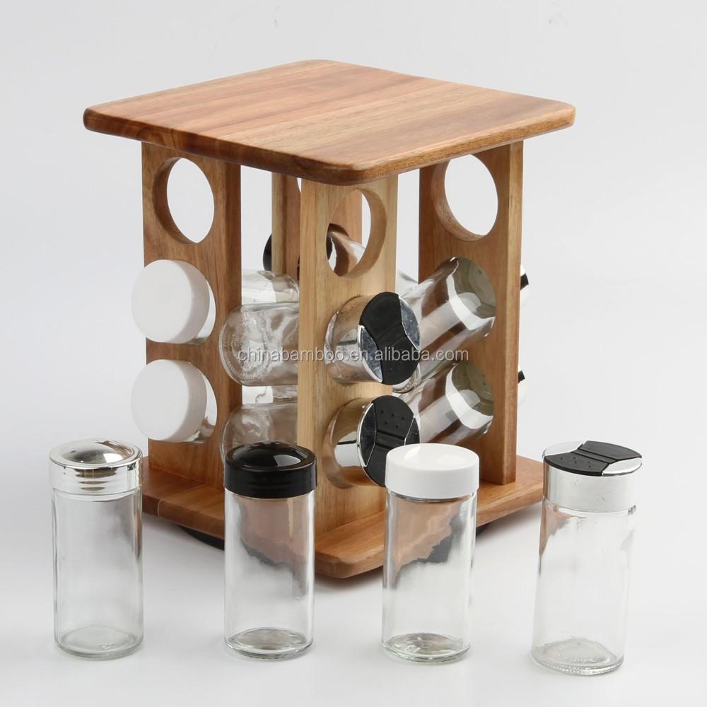 Kitchen Revolving Wooden Spice Rack Buy Spice Rack Spice