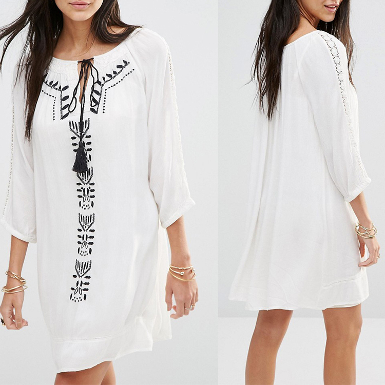 White cotton dresses for women wholesale