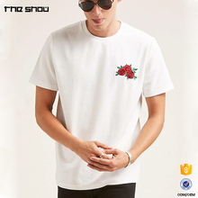 High quality custom boxy fit velvet custom mens embroidered t-shirts