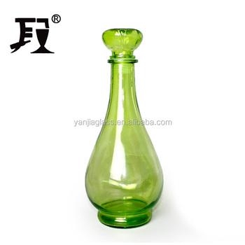Decorative 1 Liter Glass Bottles Green Bottle With Glass Stopper For Whiskey Spirits Buy 1 Liter Glass Bottle Glass Bottle For Whiskey Decorative